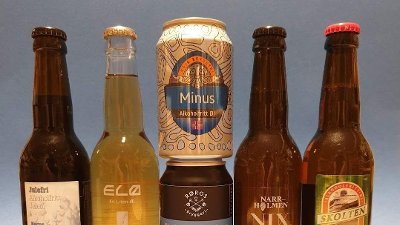 Seks alkoholfrie øl.