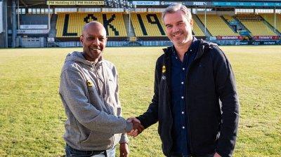KLAR FOR SAMARBEID: Simon Mesfin og Petter Myhre.