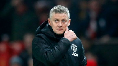 Manchester United manager Ole Gunnar Solskjaer during the Premier League match at Old Trafford, Manchester.