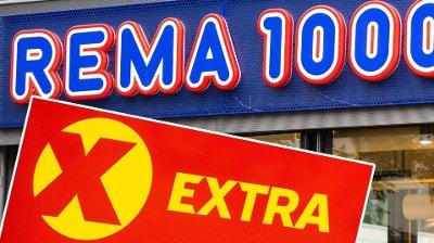 NED OG OPP: Rema 1000 taper terreng til konkurrenter som Extra.