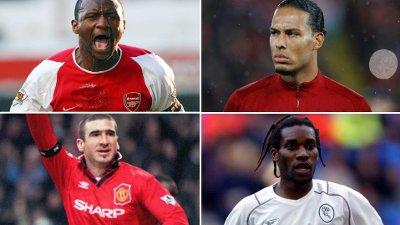GODE SIGNERINGER: Patrick Vieira, Virgil van Dijk, Eric Cantona og Jay-Jay Okocha ble alle vellykkede handler for sine klubber.