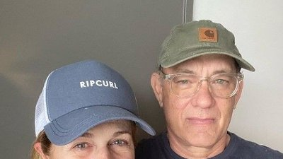 Både Rita Wilson og skuespilleren Tom Hanks ble behandlet med klorokin etter at de ble smittet av koronaviruset. Instagram: @tomhanks