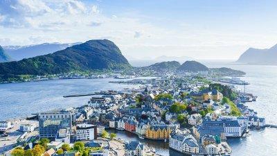 City of Alesund, Norway Alesund, Europe, Nordic Countries, Northern Norway, Norway