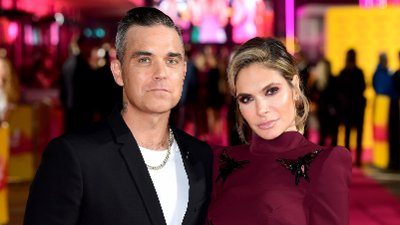 The X Factor File photo dated 16/10/18 of Robbie Williams and Ayda Field, who have quit The X Factor, saying they will not return to the show next year.
