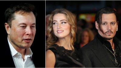 TREKANTDRAMA: Johnny Depp hevder i nye rettsdokumenter at ekskona Amber Heard skal ha hatt en trekant med Elon Musk og Cara Delevigne.