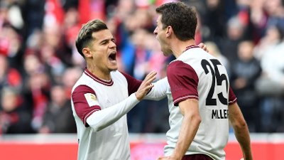 PÅ UTLÅN: Philippe Coutinho tilbringer denne sesongen på utlån til Bayern München, hvor han har levert varierende prestasjoner.