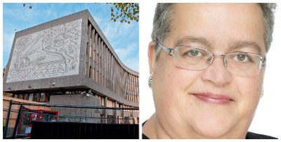 VAR PÅ JOBB: Nille Lauvås var selv på jobb i Y-blokka i Regjeringskvartalet 22. juli 2011. Hun var personalsjef i Kunnskapsdepartementet. Bildet viser Y-blokka høsten 2011.