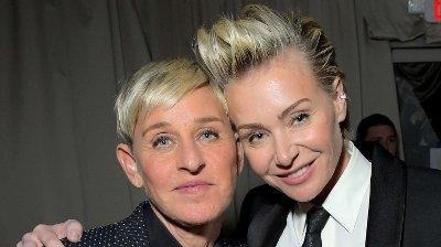 STØTTER KONA: Portia de Rossi går hardt ut på Instagram med en klar beskjed om at hun støtter kona Ellen DeGeneres i kritikken som har haglet mot talkshowet hennes den siste tiden.== FOR NEWSPAPERS, INTERNET, TELCOS & TELEVISION USE ONLY ==