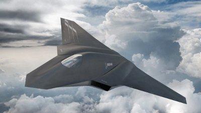 Utseende til den nye prototypen, og produsenten bak, er fortsatt strengt hemmelig. Bildet er en illustrasjon på hvordan produsenten Boeing ser for seg et 6. generasjonsfly.