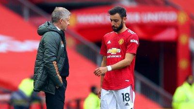 MISNØYE? Spanske toppklubber står tilsynelatende klare til å lokke Bruno Fernandes vekk fra Manchester Uniteds prosjekt under Ole Gunnar Solskjær.