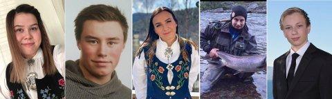 OMKOM: De fem passasjerene som omkom i helikopterulykken i Alta lørdag 31. auguast var f.v. Kine Johnsen (20), Robin Karlsen (20), Benedikte Hyld Mella (22), Kevin Berg (20) og Markus Vonheim (19).