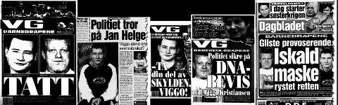 Noen av de mange avisoppslagene om Baneheia-saken.