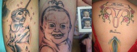 KREATIVT: Det er i alle fall ingen tvil om at de alle har en original tatovering. Foto: Instagram