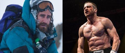 EKSTREM FORVANDLING: Jake Gyllenhaal gikk ned 13 kilo for så å gå opp igjen seks kilo i kun muskler. Så tok han på seg klatreren Scott Fischer i Everest - For å være ærlig er forberedelsene det artigste med denne jobben, sier han.