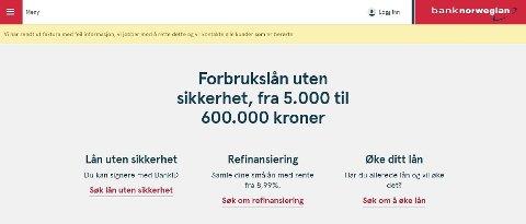 FEIL: Bank Norwegian har sendt ut feil faktura.