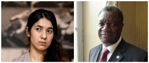Den kongolesiske legen Denis Mukwege og irakiske Nadia Murad tildeles Nobels fredspris for 2018.