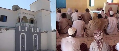 Koranskolen i Al Badriya i Bosaso i Somalia. Dette var en av skolene som tok imot barn og unge fra Norge.