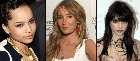 ROCKEDØTRE: Zoe Kravits, Ruby Stewart og Daisy Lowe har alle superberømte rockefedre. De gjør selv karriere som modeller og artister.