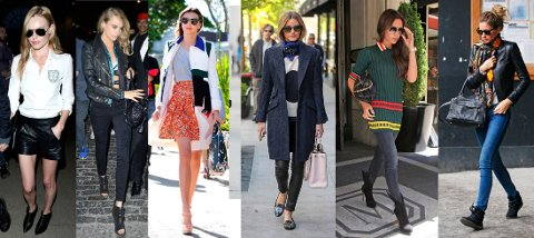 BEST KLEDD: Kate Bosworth, Cara Delevigne, Miranda Kerr, Olivia Palermo, Victoria Beckham og Gisele Bundchen er blant de nominerte.
