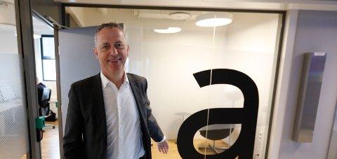 GODE TALL: Are Stokstad, konsernsjef i Amedia, kan fortelle om solide 2019-tall. Foto: Gorm Kallestad / NTB scanpix