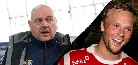 ØNSKET: Finn Bredo Olsen (til venstre) vil gjerne ha tidligere Lyn-spiller Kim Holmen (til høyre) tilbake.