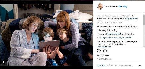 Nicole Kidman og Meryl Streep spiller inn sin første scene i Big Little Lies sammen.
