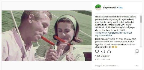 Danske Simple Feast, som selger matkasser, vekker oppsikt med ny kampanje.