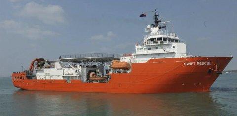 UTEN FUNN: Redningsskipet MV Swift Rescue fra Singapore deltar i letingen etter flyet fra Malaysian Airlines med rutenummer MH370.