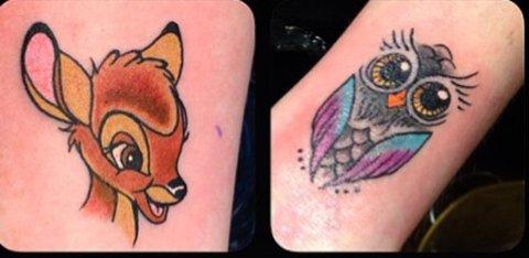 ENKLE: Tatoveringene kostet 500 kroner per stykk, og 37 tatoveringsstudioer landet over deltok.