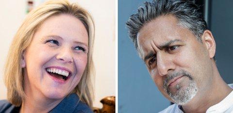 FRAM OG TILBAKE: Venstres Abid Raja har fått mye kritikk etter at han uttalte at Siv Jensen og Sylvi Listhaug bruker «brun propaganda». Nå viser den første meningsmålingen etter at krangelen mellom de to regjerignspartiene startet, at Listhaug har størst grunn til å smile.