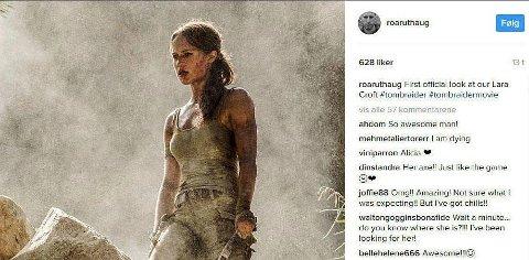Alicia Vikander har hovedrollen i Roar Uthaugs storfilm Tomb Raider.
