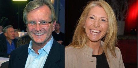 VALGNATTEN: Julie Voldberg og Per-Trygve Hoff strålte over Høyres valgseier. Nå bærer det også rett inn i bystyret.