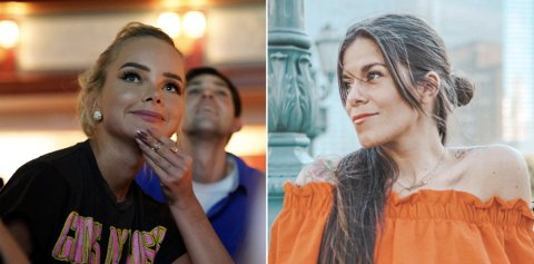 KRITIKK: Kristin Gjelsvik (til høyre) kritiserer bloggeren Sophie Elise Isachsen for å påvirke leserne til å finne nye ting å ha komplekser for.
