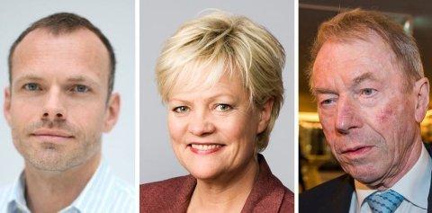 CICERO følger med i debatten på sosiale medier, skriver kommunikasjonsdirektør Christian Bjørnæs (til venstre). CICERO-direktør Kristin Halvorsen og styreleder Jens Ulltveit-Moe.