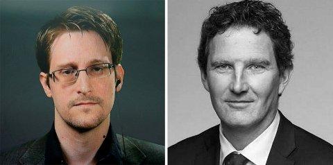 TOPPER MEDIALISTEN: Advokatfirmaet Schjødt, som har representert varslerenEdward Snowden, topper ny advokatkåring. Det erSchjødt-toppen Ole G. Klevan fornøyd med.