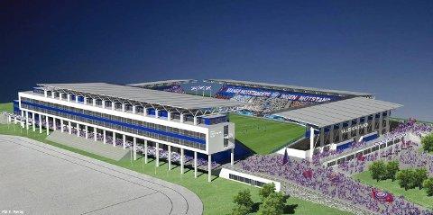 Slik kan Vålerenga Kultur- & idrettspark bli. Det er blitt noen endringer i stadiondesignet siden denne skissen.
