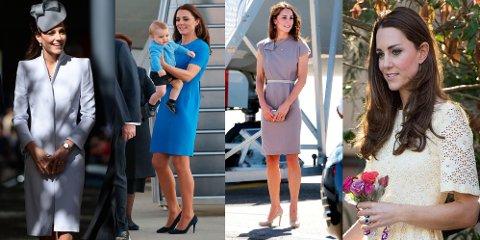 En lekker kjole for hver anledning. Kate får full pott for sin kongeligestil.