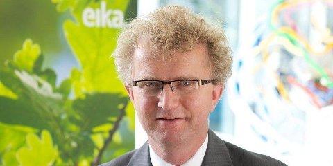 FOR OPTIMISTISK: Sjeføkonom Jan Ludvig Andreassen i Eika Gruppen mener Statistisk sentralbyrå er for optimistisk i sine prognoser.