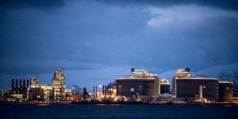 NORSK GASS: Gassfabrikken til Equinor fra Snøhvit-feltet ligger på Melkøya i Hammerfest. Etter å ha blitt realisert gjennom en større skattepakke, er produksjonen nå svært lønnsom.