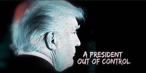 ADVARER MOT TRUMP: I videoen med tittelen How it starts tegnes et bilde av en president som ikke har kontroll etter uroen som startet i Portland.