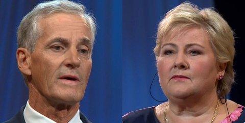 FORSIKTIG DUELL: Arbeiderpartileder Jonas Gahr Støre angrep statsminister Erna Solberg med silkehansker - klokt nok.