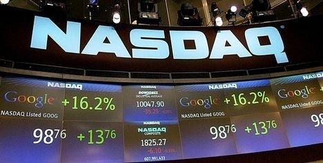 OPP: Den teknologitunge Nasdaq-indeksen endte opp 1,4 prosent på rekordhøye 10.492,5 poeng onsdag.