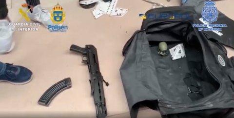 Politiet i Spania og Sverige sier de har avslørt et mafialignende narkonettverk. Bildet er offentliggjort av spansk politi i forbindelse med etterforskningen. Foto: Guardia Civil / NTB