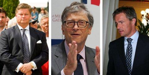 VINNERE: Tor Aksel Voldberg, Bill Gates og Microsoft og Jan Haudemann-Andersen har alle tjent gode penger på Kahoot!, Haudemann-Andersen kan tjene over en halv milliard.