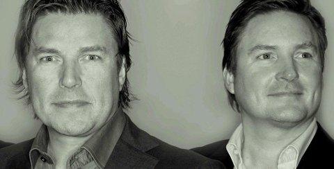 Petter (t.v.) og Marius Varner i Varner Gruppen kontrollerer flere av de største kleskjedene i Norge.