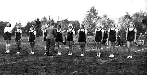 Damelaget som ble norgesmestre i 1940. Foto: BSK-arkiv