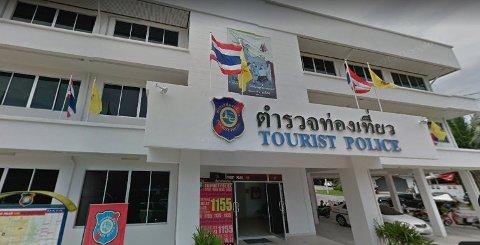 Nordmannen, som er løslatt mot kausjon på 60.000 kroner, har rømt fra straffeforfølgelse fordi han er redd for å havne i fengsel i Thailand. Illustrasjonsfoto: Hovedkontoret til turistpolitiet i Phuket.