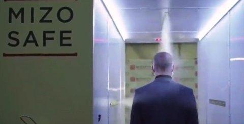 Nyhetsbyrået RIA publiserte en film tirsdag kveld, som demonstrerer hvordan tunnelen fungerer