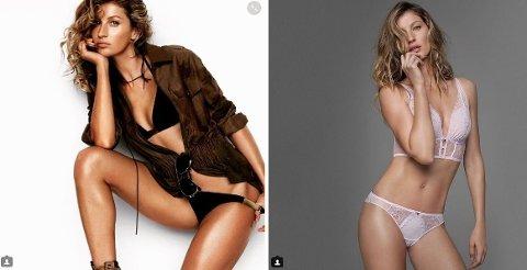 TJENER BEST: Gisele Bündchen ligger på toppen av modellene, men klarer likevel bare såvidt å komme seg inn på topp 100-lista av best betalte kjendiser. Foto: Instagram @Gisele