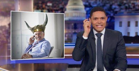 HARSELERER: Trevor Noah er en sydafrikansk komiker, dj, skuespiller og programleder. Fra 2015 har han ledet «The Daily Show» påComedy Central etter at Jon Stewart sluttet.